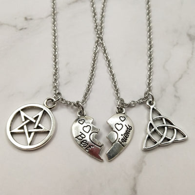 Best Witches Necklace (2 pieces)  - Cradle Of Goth