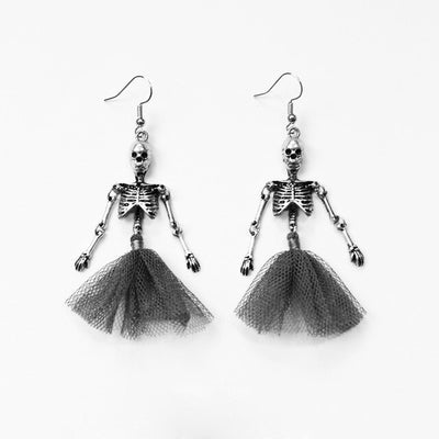 Dangling Skeletons Earrings  - Cradle Of Goth