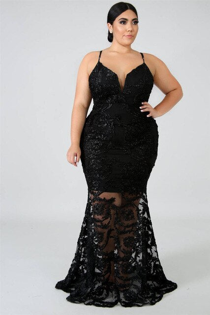 Queen of Lace Dress black / XXL - Cradle Of Goth