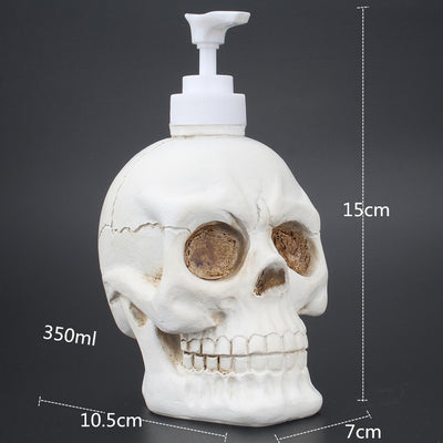 Skull Liquid Soap Bottle White / United States - Cradle Of Goth