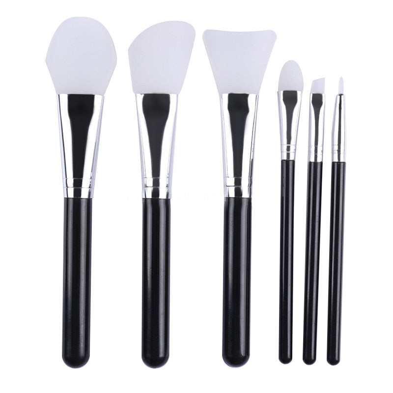Silicone Facial Brushes (6 pieces)  - Cradle Of Goth