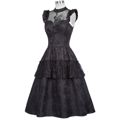 Dragon's Heart Dress Black / L - Cradle Of Goth