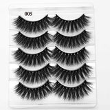 5 Pairs 3D Eyelashes (Cruelty-Free) 15mm / 006 - Cradle Of Goth