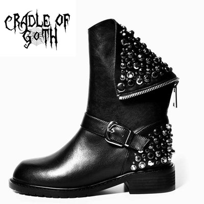 The Rebel's Boots (Handmade)  - Cradle Of Goth