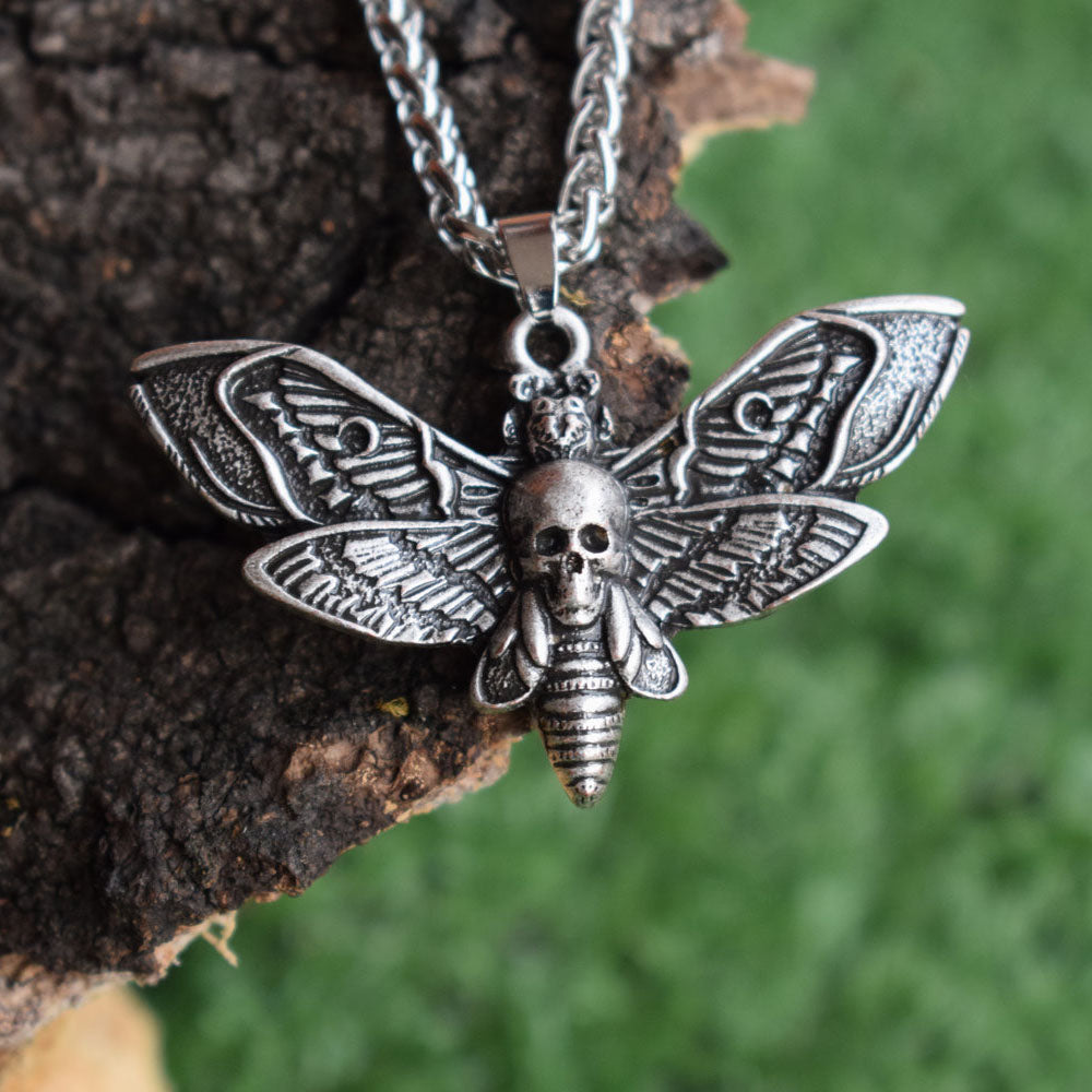 Moth Necklace  - Cradle Of Goth