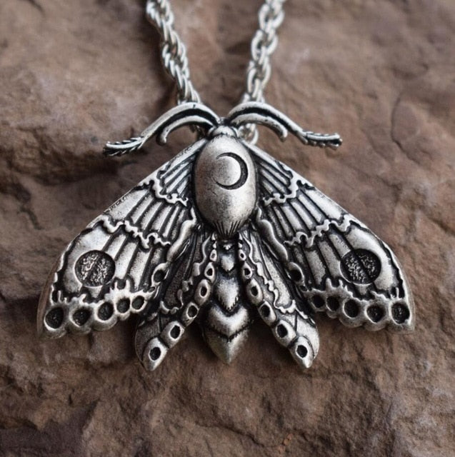 Moth Necklace 03 - Cradle Of Goth