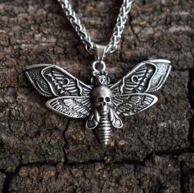 Moth Necklace 02 - Cradle Of Goth