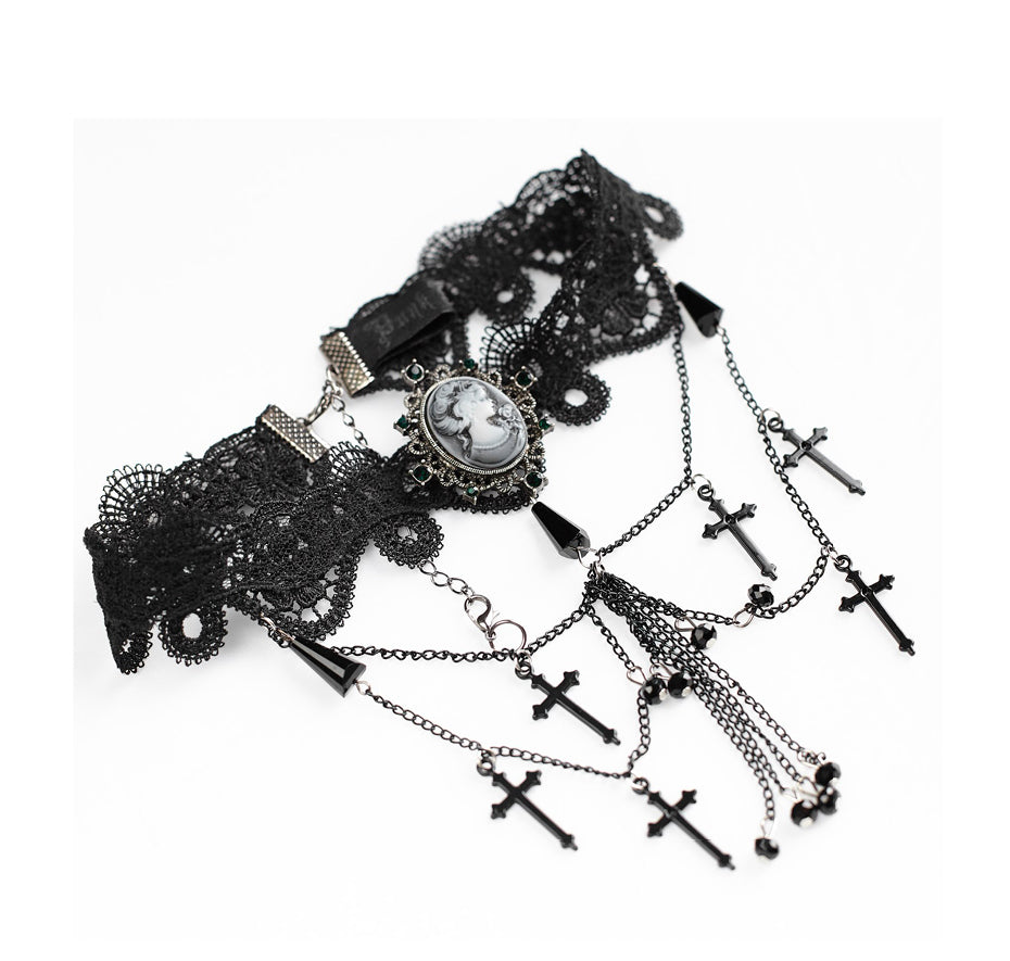 Graveyard Necklace (handmade)  - Cradle Of Goth