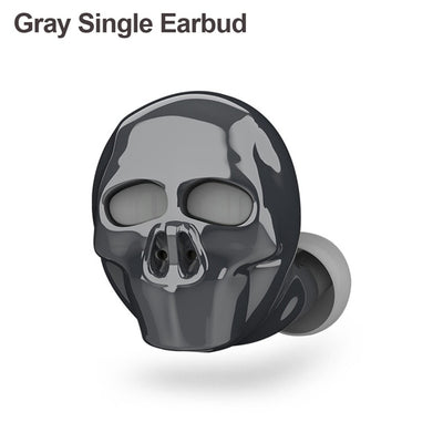 Skull Bluetooth Earphones Single Earbud  Gold - Cradle Of Goth