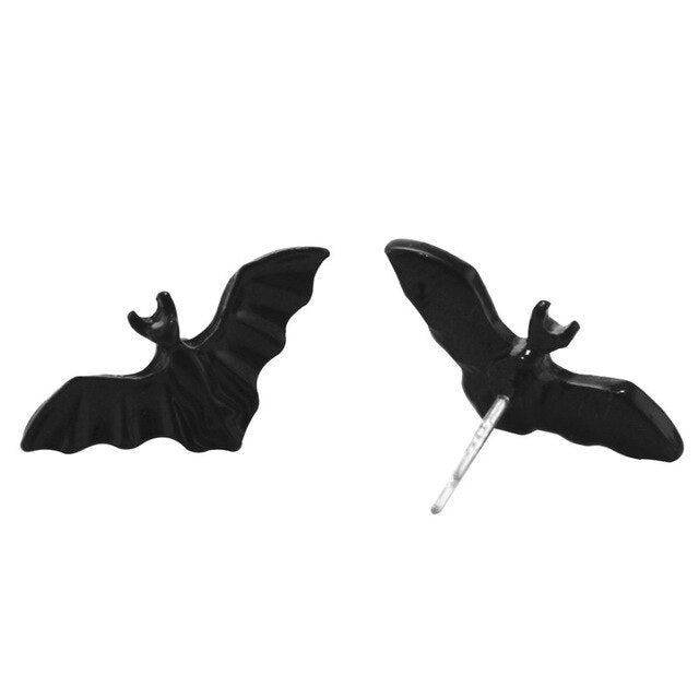 Batty Set (Necklace, ring, bracelet and earrings) 925 earrings - Cradle Of Goth