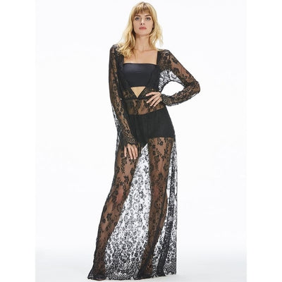 See-through Maxi Dress (plus sizes available)  - Cradle Of Goth