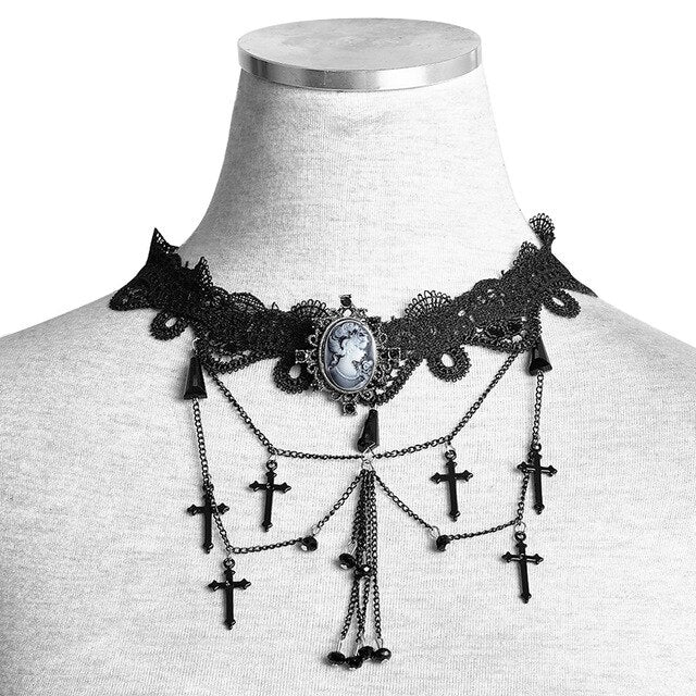Graveyard Necklace (handmade) Default Title - Cradle Of Goth