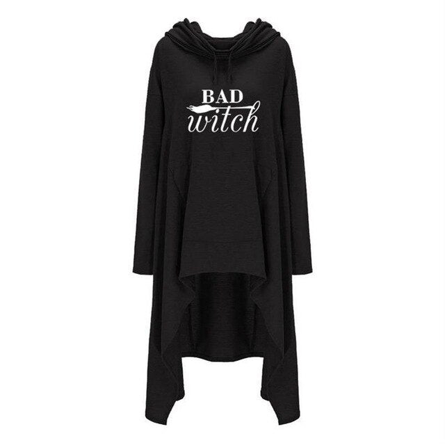 Bad Witch Hoodie (plus sizes available) Black / M - Cradle Of Goth