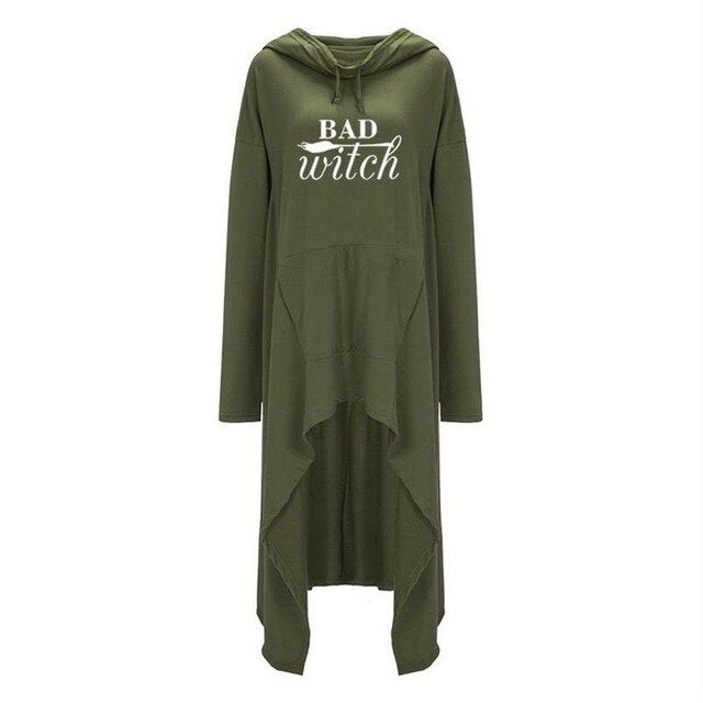 Bad Witch Hoodie (plus sizes available) Green / XL - Cradle Of Goth