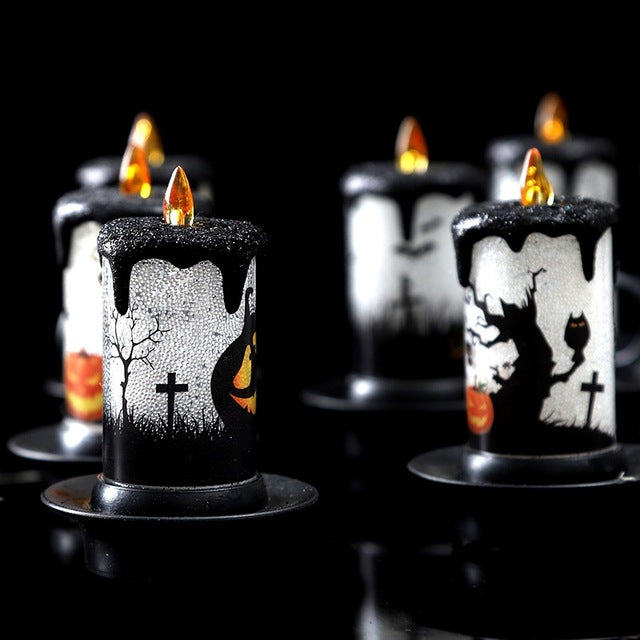 Halloween LED Candle Lights Gold - Cradle Of Goth