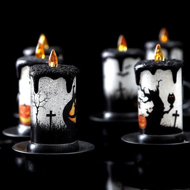 Halloween LED Candle Lights Burgundy - Cradle Of Goth