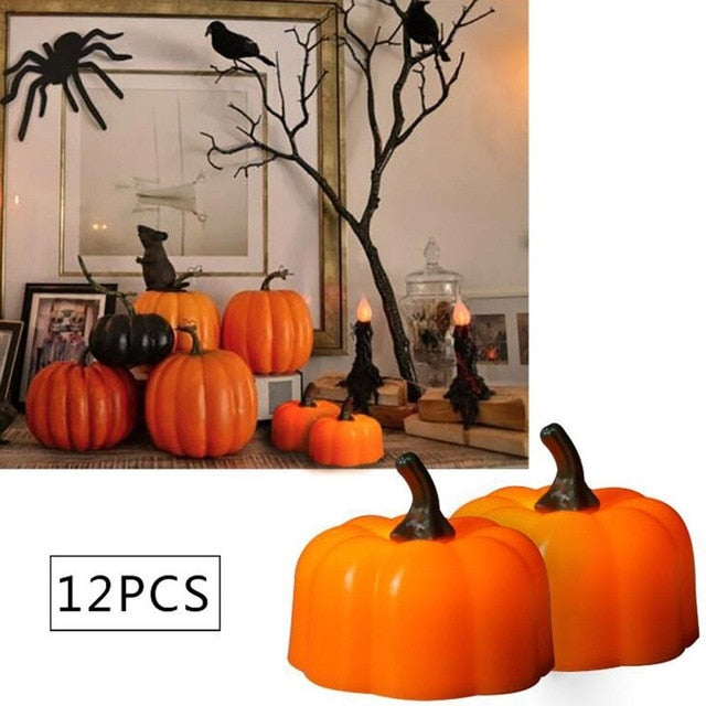 Pumpkin Candles (12 pieces)  - Cradle Of Goth