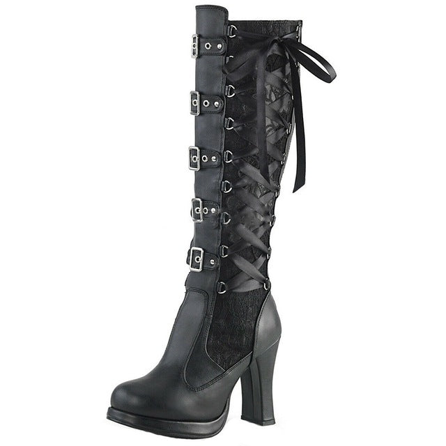 The Wife of the Devil Boots Black / 43 / United States - Cradle Of Goth
