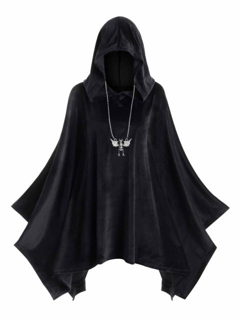 Velvet Poncho (plus sizes available)  - Cradle Of Goth