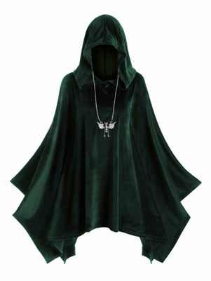 Velvet Poncho Purple Iris / XXL - Cradle Of Goth