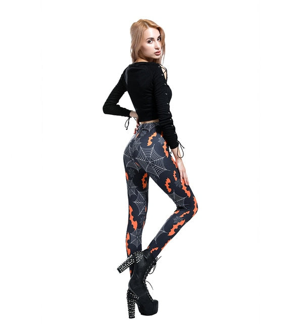 Spooky Season Leggings Black / S - Cradle Of Goth