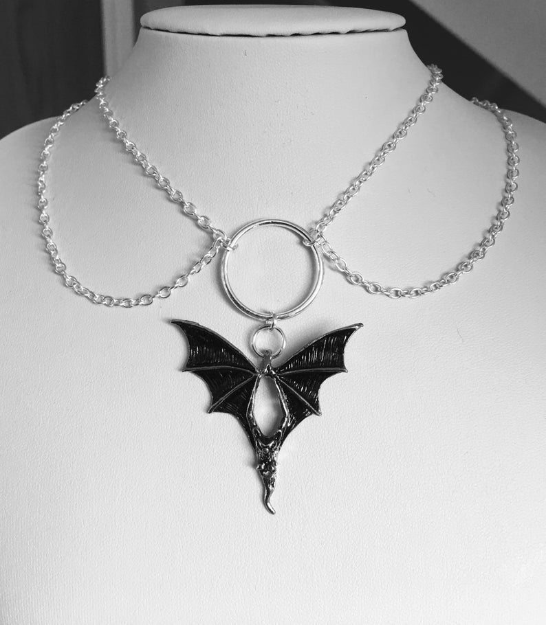 Flying Fox Necklace  - Cradle Of Goth
