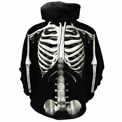 Skeleton Hoodie (Male version)  - Cradle Of Goth