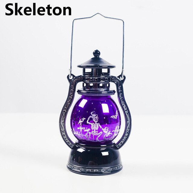 Spooky Led Lantern Skeleton - Cradle Of Goth