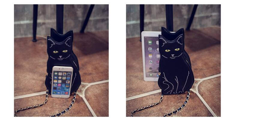 Black Cat Purse (Handmade & Vegan)  - Cradle Of Goth