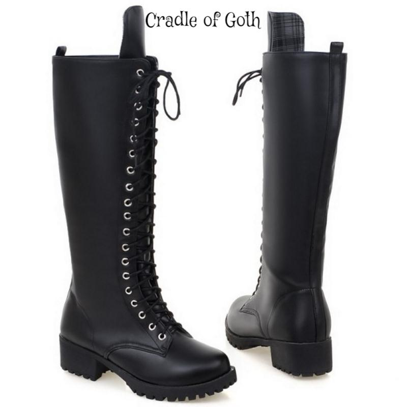 Gothic Platform Lace Up Shoes  - Cradle Of Goth