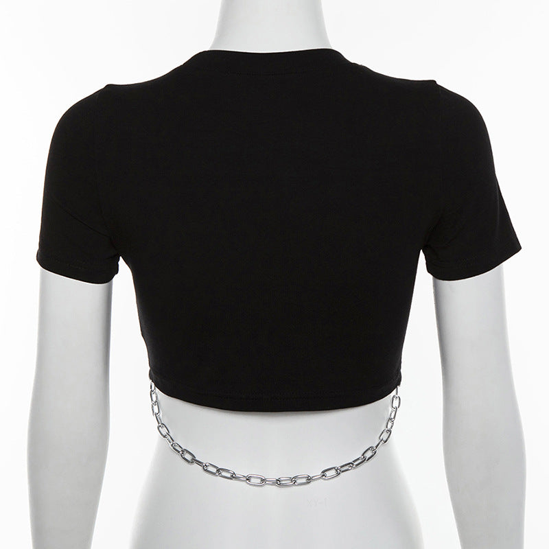 Chained Goth Top  - Cradle Of Goth