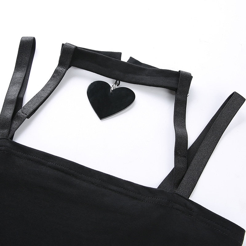Heart Choker Tank Top  - Cradle Of Goth