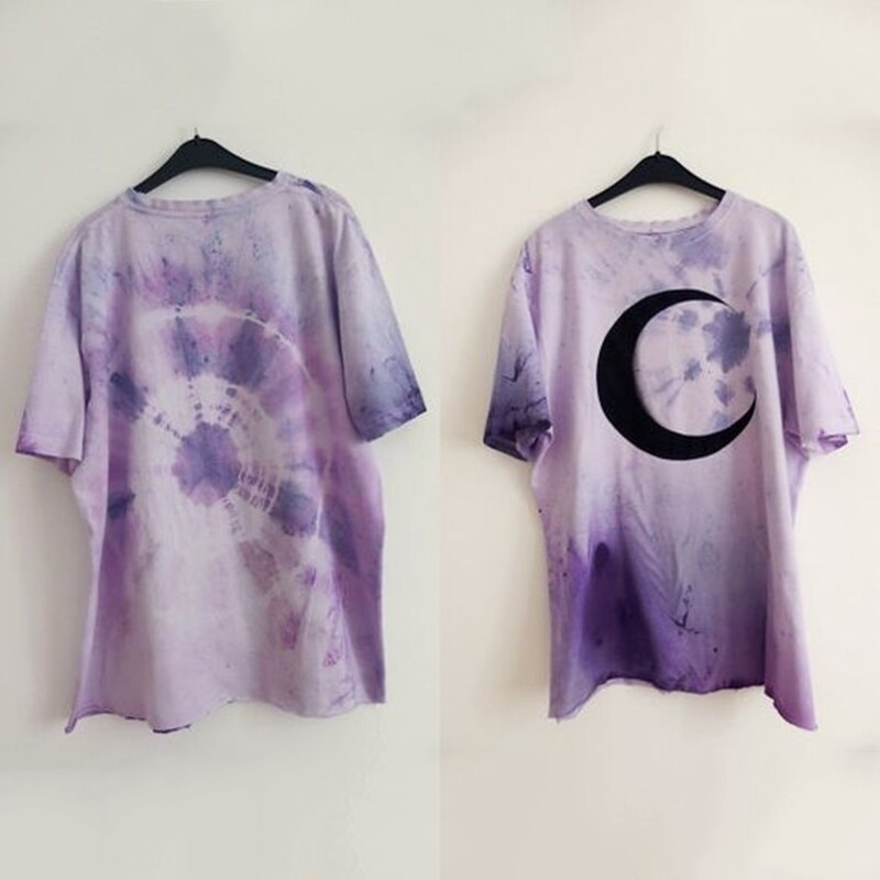 Purple Moon T-shirt (plus sizes available)  - Cradle Of Goth