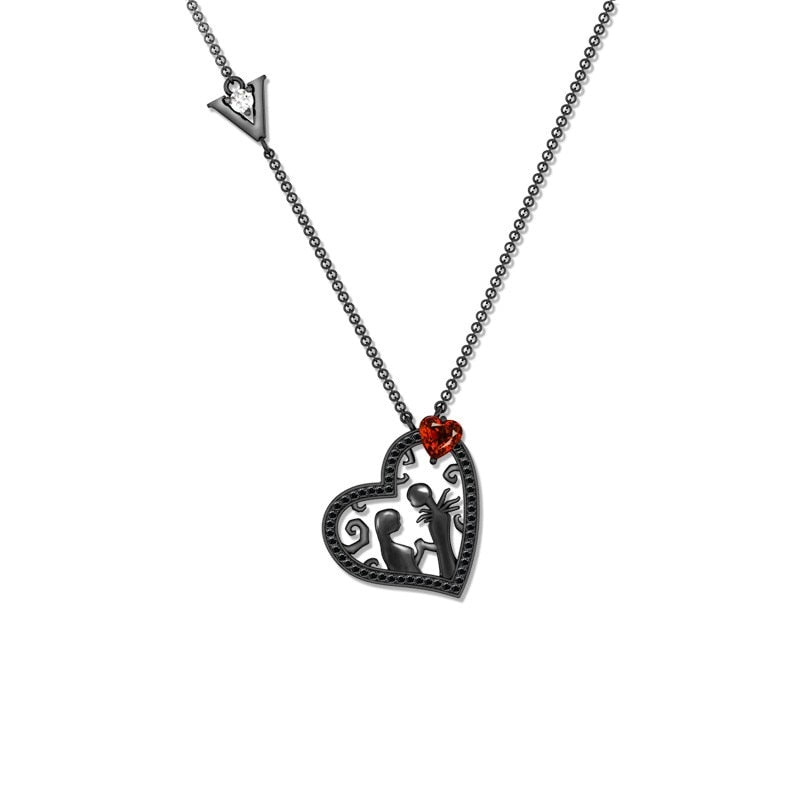 Black Heart Necklace  - Cradle Of Goth