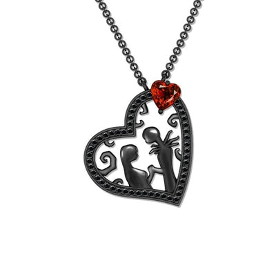 Black Heart Necklace Default Title - Cradle Of Goth