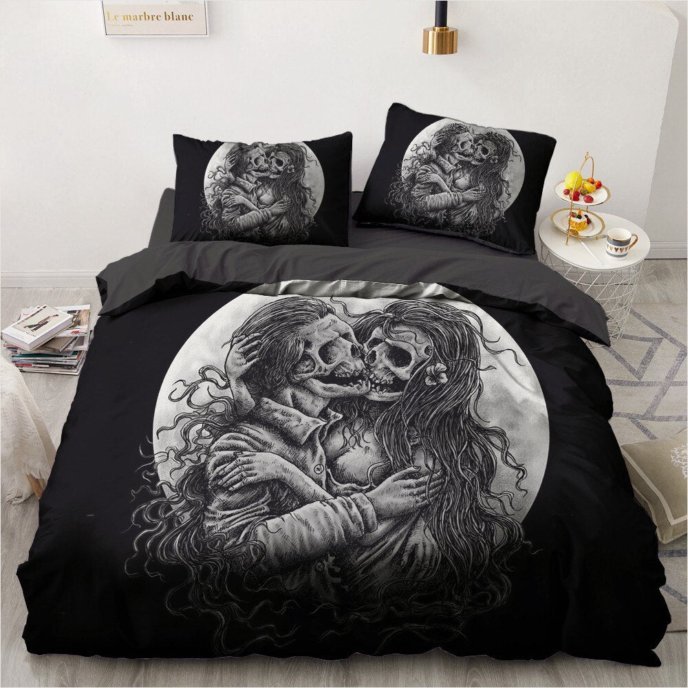 Screaming skull Bed-sheets  - Cradle Of Goth