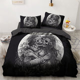 Screaming skull Bed-sheets Skull54-Black / US Twin - Cradle Of Goth
