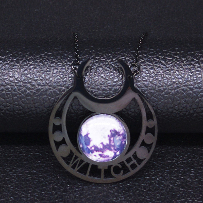 Moon Cycle Necklace  - Cradle Of Goth