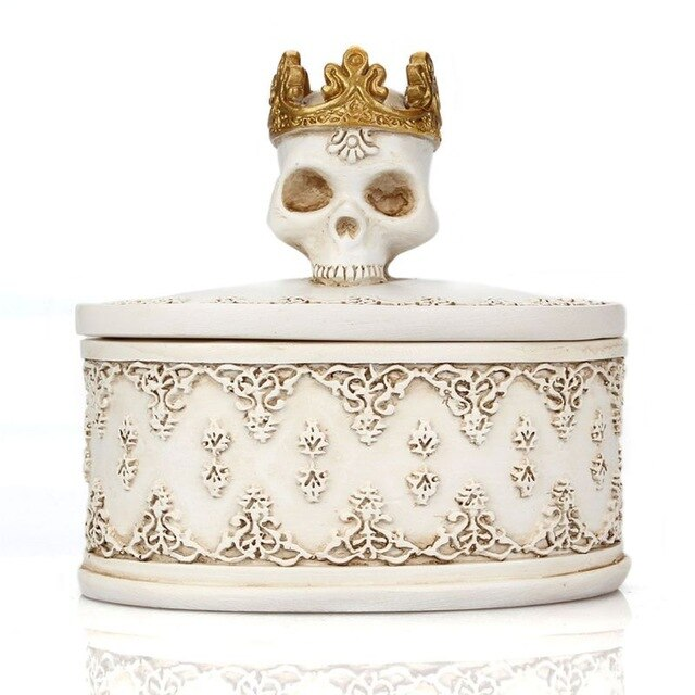Skull Jewelry Box White - Cradle Of Goth
