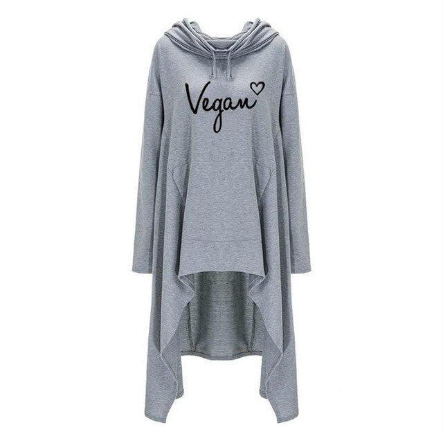 Vegan Goth (plus sizes available) Grey / XXL - Cradle Of Goth