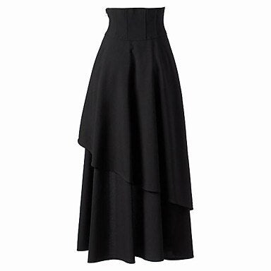 Long Goth Skirt Black / L - Cradle Of Goth