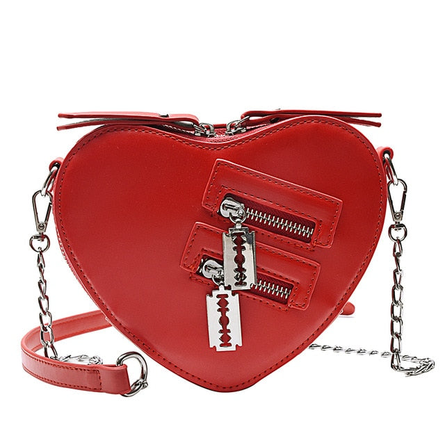 Bladed Heart Bag Red / United States - Cradle Of Goth