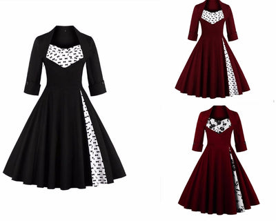 Pinup Goth Dress (plus sizes available)  - Cradle Of Goth