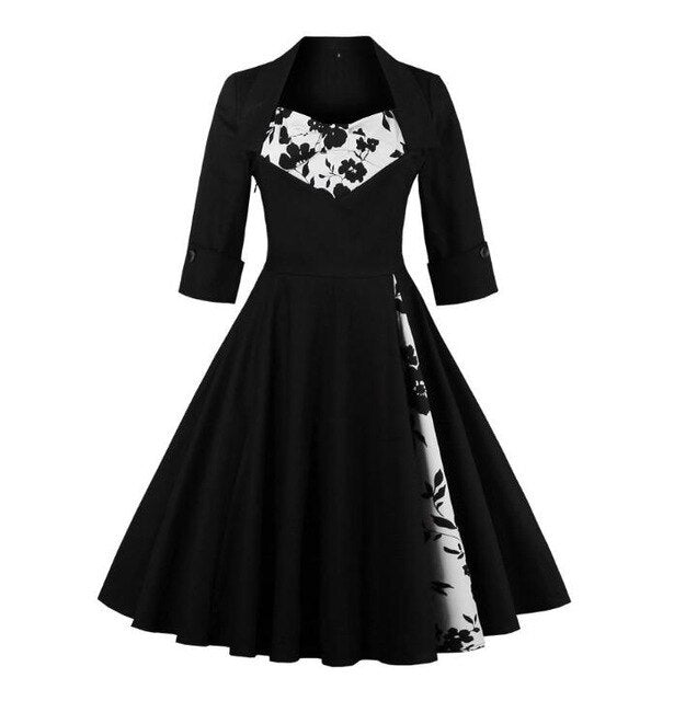 Pinup Goth Dress (plus sizes available) 1 / 4XL - Cradle Of Goth