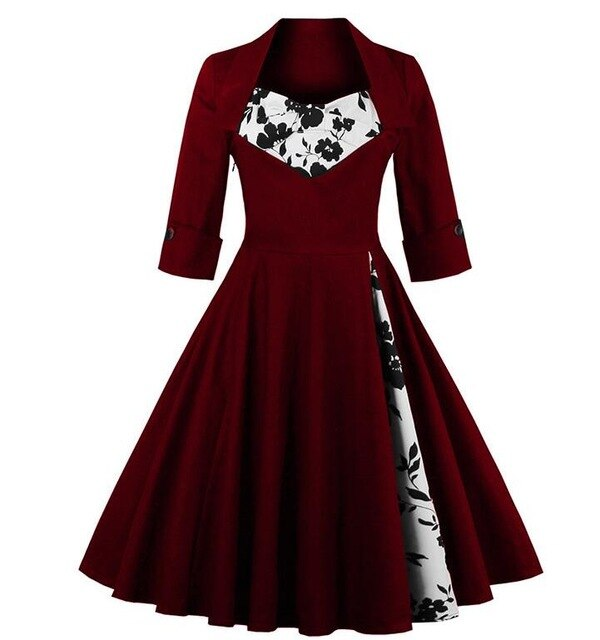 Pinup Goth Dress (plus sizes available) 3 / M - Cradle Of Goth