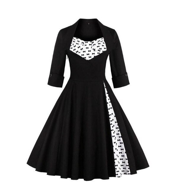 Pinup Goth Dress (plus sizes available) 2 / 5XL - Cradle Of Goth