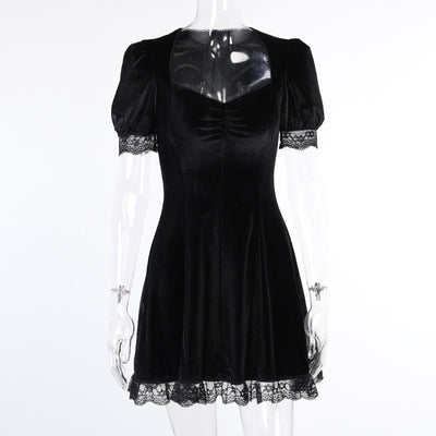 Evening Goth Dress Black / S - Cradle Of Goth