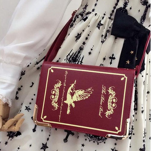 Book Shaped Purse Red/Gold - Cradle Of Goth