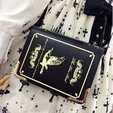 Book Shaped Purse Black/Gold - Cradle Of Goth