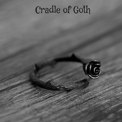 Black Rose Ring  - Cradle Of Goth